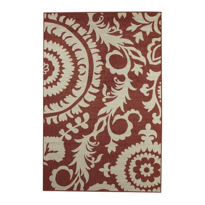 Hattie Brick & Parchment Indoor/Outdoor Rug Rug Size: 36 x 56