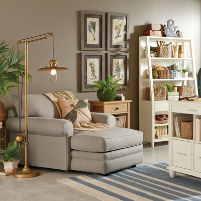 Newton Chaise Upholstery: Jemma Silver Mist