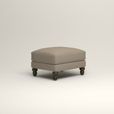 Montgomery Upholstered Ottoman Upholstery: Tibby Linen