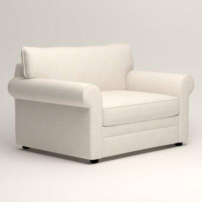 Newton Grand Sleeper Chair Color: Talc Basketweave