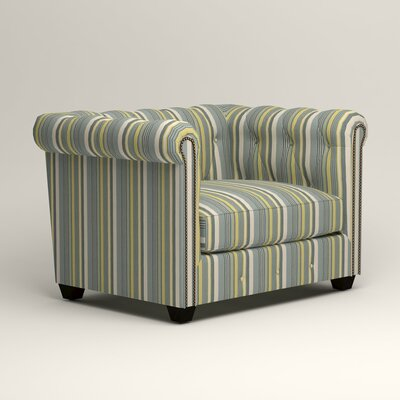 Hawthorn Chesterfield Chair Upholstery: Dunagen Ocean