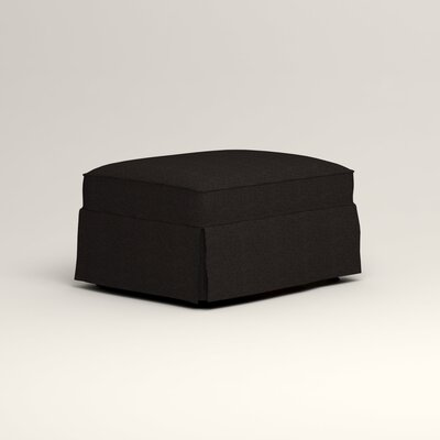 Jameson Ottoman Upholstery: Bryant Ebony Textured Slub