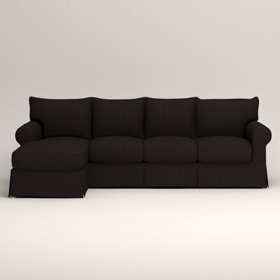 Jameson Sofa with Chaise Orientation: Left, Upholstery: Bryant Ebony Textured Slub