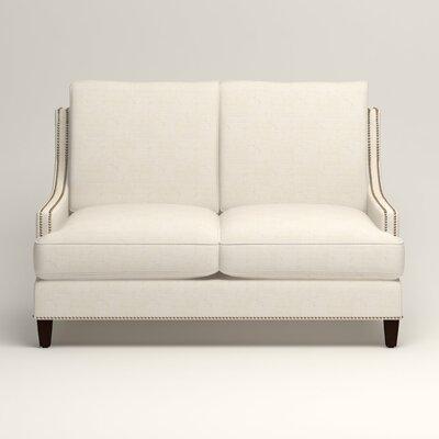 Larson Nailhead Trim Loveseat Upholstery: Bevin Natural