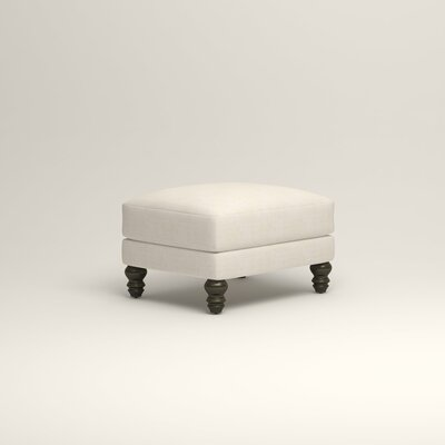 Montgomery Upholstered Ottoman Upholstery: Bevin Natural