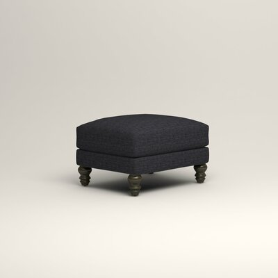 Montgomery Upholstered Ottoman Upholstery: Laney Navy