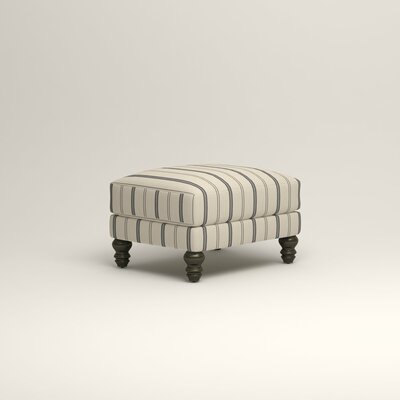 Montgomery Ottoman Upholstery: Mcallister Indigo