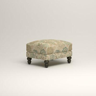 Montgomery Upholstered Ottoman Upholstery: Okeefe Seabreeze