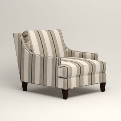 Larson Nailhead Trim Chair Color: Brinley Seabreeze