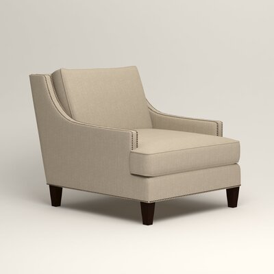 Larson Nailhead Trim Chair Color: Watson Malt Blended Cotton
