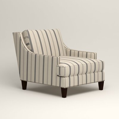 Larson Nailhead Trim Chair Color: Adalia Deep-Sea Navy