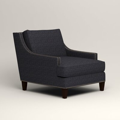 Larson Nailhead Trim Chair Color: Rowley Navy Tweed