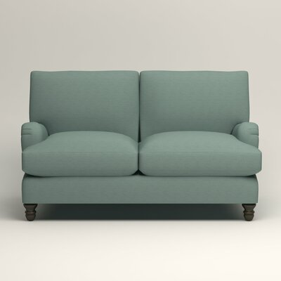 Montgomery Upholstered Loveseat Upholstery: Hilo Turquoise