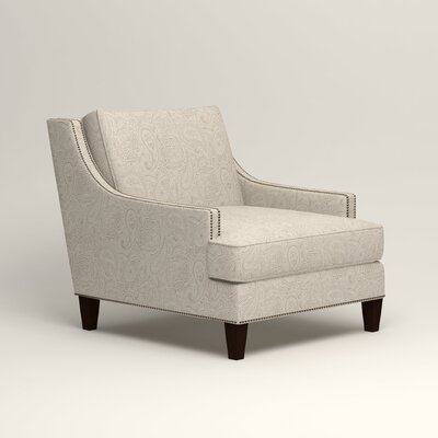 Larson Nailhead Trim Chair Color: Stewart Paisley Linen