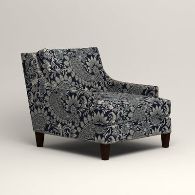 Larson Nailhead Trim Chair Color: Wallace Midnight Paisley