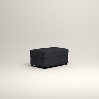 Newton Ottoman Upholstery: Rowley Navy Tweed