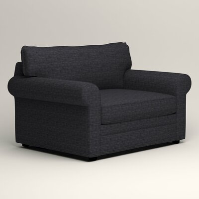 Newton Grand Armchair Upholstery: Laney Navy
