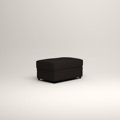 Newton Ottoman Upholstery: Bryant Ebony Textured Slub