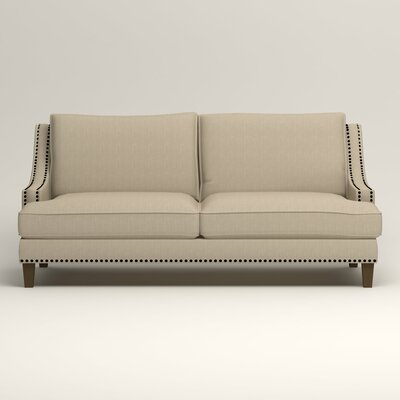Larson Sofa with Toss Pillows Upholstery: Denton Beige