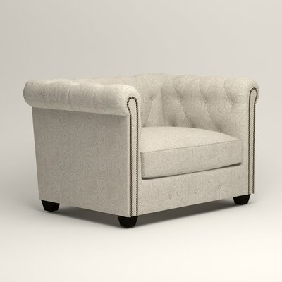 Hawthorn Chesterfield Chair Upholstery: Ronan Linen