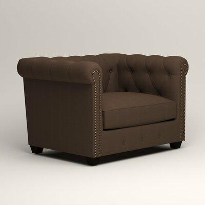 Hawthorn Chesterfield Chair Upholstery: Bayou Coffee