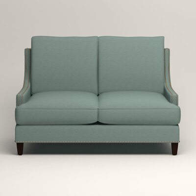 Larson Nailhead Trim Loveseat Upholstery: Bryant Calypso Textured Slub