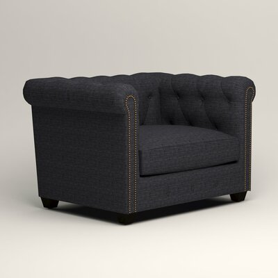 Hawthorn Chesterfield Chair Upholstery: Laney Navy