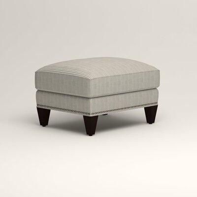 Larson Ottoman Upholstery: Douglas Harbor Stripe, Nailhead Detail: Trim