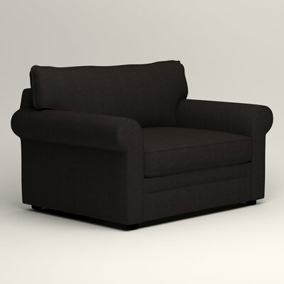 Newton Grand Chair Fabric: Bryant Ebony Textured Slub