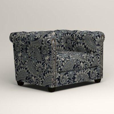 Hawthorn Chesterfield Chair Upholstery: Nadia Denim