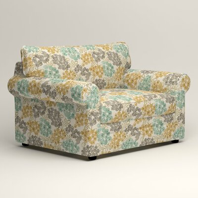Newton Grand Chair Fabric: Wilmer Blooming Pool