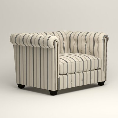 Hawthorn Chesterfield Chair Upholstery: Mcallister Indigo