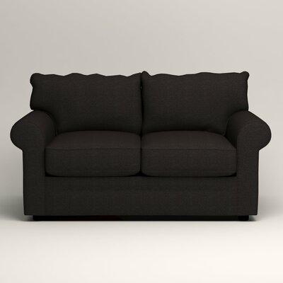 Newton Loveseat Upholstery: Bryant Ebony Textured Slub