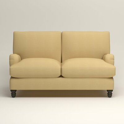 Montgomery Upholstered Loveseat Upholstery: Tillery Sunglow