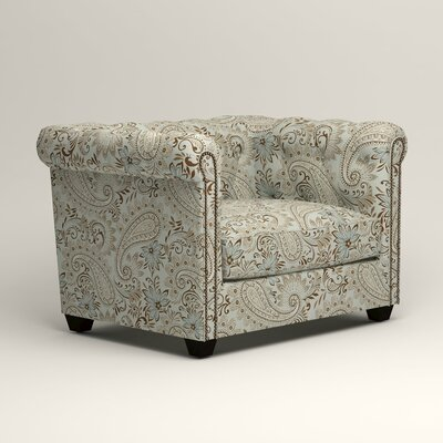 Hawthorn Chesterfield Chair Upholstery: Nadia Moonstone