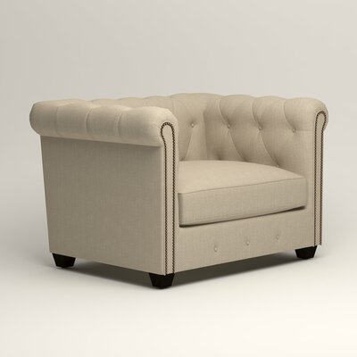 Hawthorn Chesterfield Chair Upholstery: Denton Beige