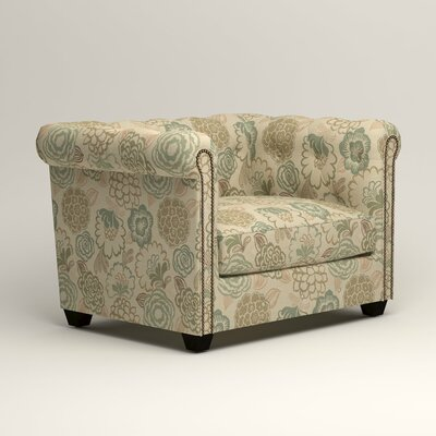 Hawthorn Chesterfield Chair Upholstery: Okeefe Seabreeze