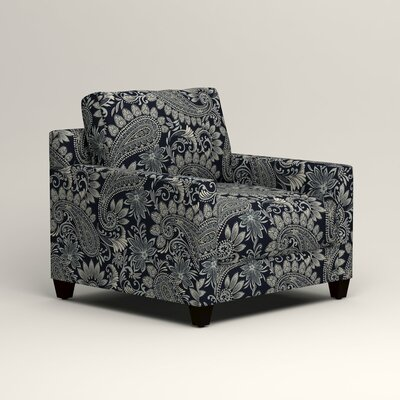 Kerry Chair Fabric: Wallace Midnight Paisley