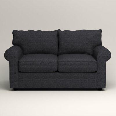 Newton Loveseat Upholstery: Rowley Navy Tweed