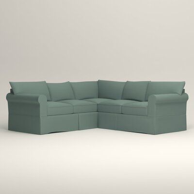 Jameson Symmetrical Sectional Orientation: Left Facing, Upholstery: Bryant Calypso Textured Slub