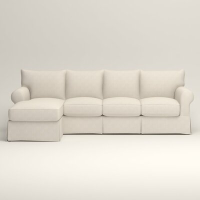 Jameson Sofa with Chaise Orientation: Left, Upholstery: Talc Basketweave