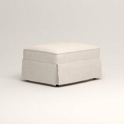 Jameson Ottoman Upholstery: Talc Basketweave