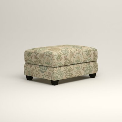 Hawthorn Ottoman Upholstery: Okeefe Seabreeze