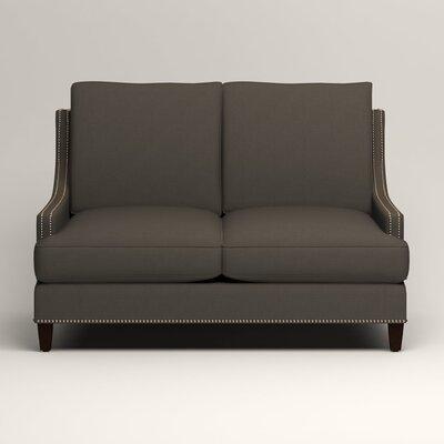 Larson Nailhead Trim Loveseat Upholstery: Jemma Storm Gray