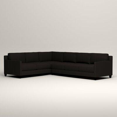 Kerry L-Shaped Sectional Orientation: Left Facing, Upholstery: Bryant Ebony Textured Slub