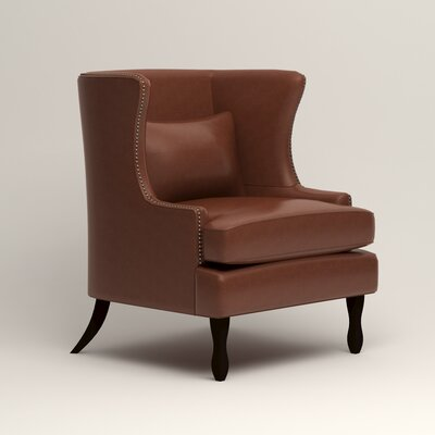 Solomon Wingback Chair Upholstery: Steamboat Chestnut