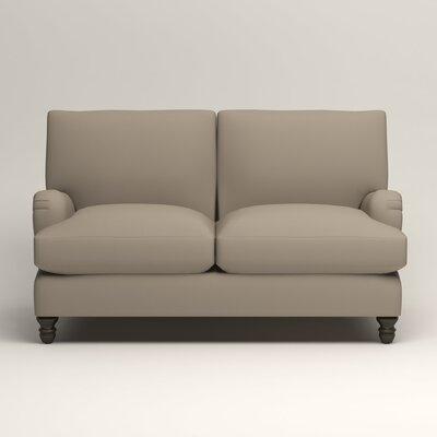 Montgomery Upholstered Loveseat Upholstery: Tibby Linen