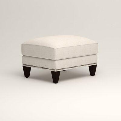 Larson Ottoman Upholstery: Talc Basketweave, Nailhead Detail: Trim