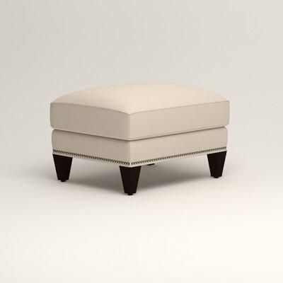 Larson Ottoman Upholstery: Tillery Vanilla, Nailhead Detail: Trim