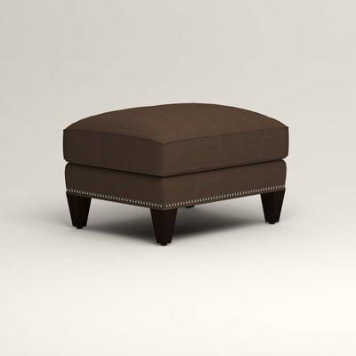Larson Ottoman Upholstery: Tillery Espresso, Nailhead Detail: Trim